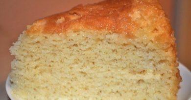 Торт «Три молока» Божественно вкусный торт, все дело в котором - в заливке!