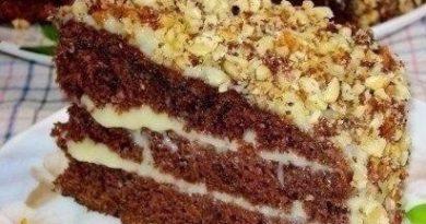 Шоколадный торт на кефире «Фантастика».