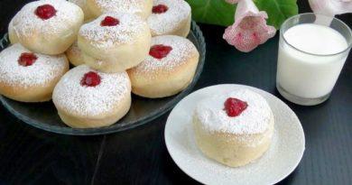 Пончики с вишнёвым джемом