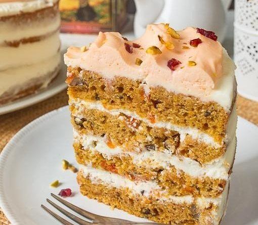 Морковно-тыквенный торт