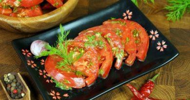 Закуска из помидоров в горчичной заправке
