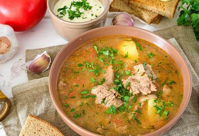 Классический грузинский суп-харчо