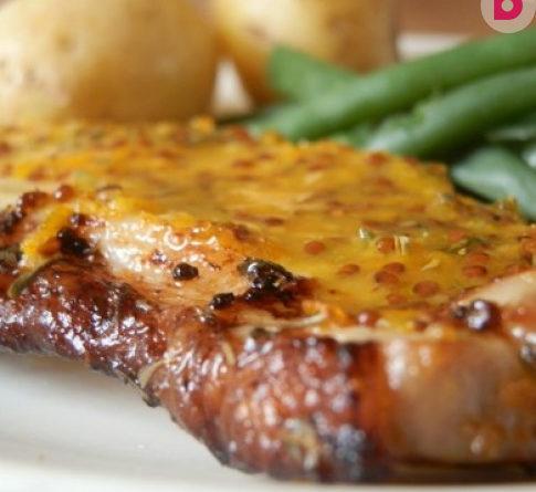 Необычное блюдо - свинина под горчичным соусом