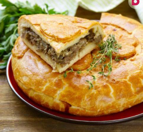 Рецепт быстрого пирога с мясом