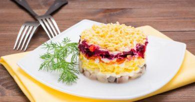 Рецепт селедки под шубой с яйцом