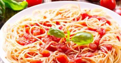 Рецепт спагетти с томатом и сыром