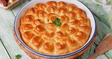 Роскошный пирог «Хризантема»
