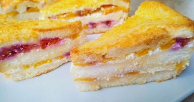 Творожный пирог из хлеба
