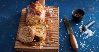 Удивите гостей роллом из свиной шея в глазури и мисо-пасты