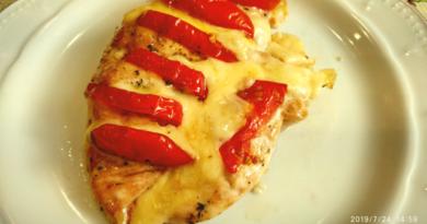 Куриная грудка - капрезе, сочная и питательаня