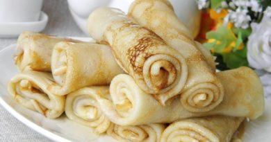 Тонкие блинчики на завтрак
