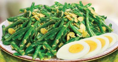 Вкусный салат из зеленой фасоли