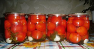 Закрываем помидоры без уксуса