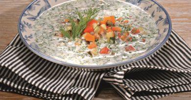 Кефирный суп с овощами