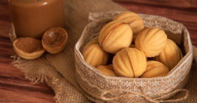 Классический рецепт печенья «Орешки» со сгущенкой