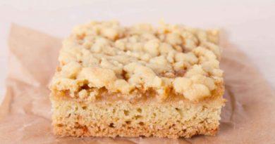 Песочный пирог с ванильным соусом