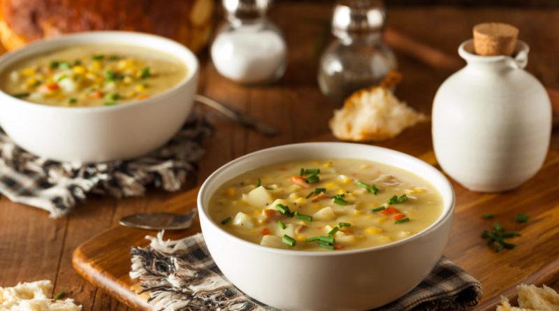 Кукурузный суп с кабачком