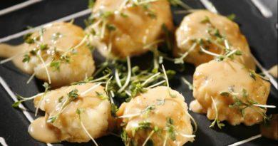 Морские гребешки с соусом мисо