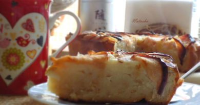 Овсяный пирог с яблоком и кабачком