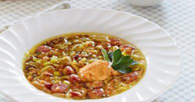 Суп из чечевицы с йогуртом