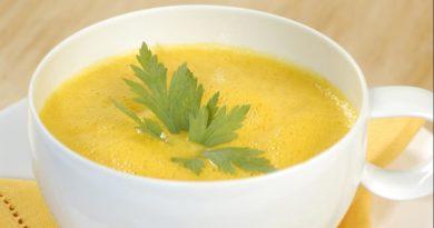 Суп-пюре из яблок с тыквой