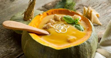 Тыквенный суп с сельдереем