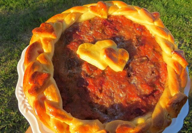Удивительно вкусный пирог со сливой и яблоком на дрожжевом тесте