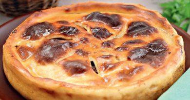 Фыдджин, осетинский пирог c куриными желудками