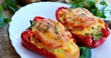 Рецепт фаршированного перца, запеченного в духовке