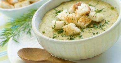 Крем-суп из кабачков. Готовится в микроволновой печи