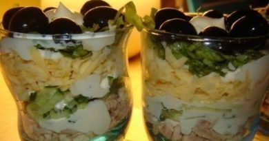 Салат - коктейль для двоих