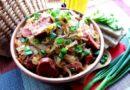 Тушёная капустка с баварскими колбасками