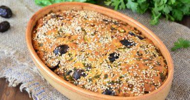 Любимый рецепт киприотов: пирог с маслинами и зеленью