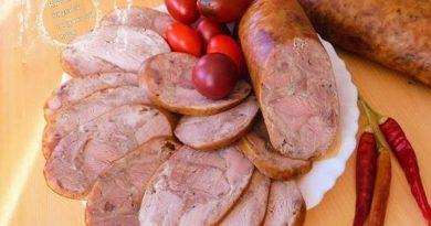 Домашняя колбаса из свиной рульки