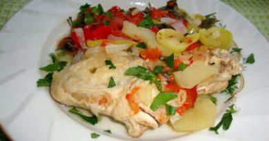 Цыплята, тушенные с овощами «Шарови»