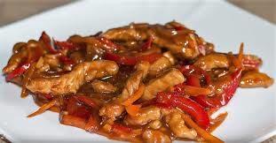 Свинина по-китайски острая