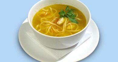 Домашний суп-лапша в мультиварке