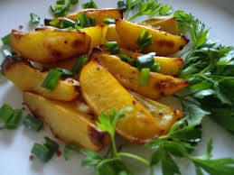 Картофель с горчицей и медом
