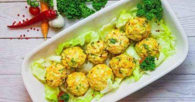Куриные шарики с овощами