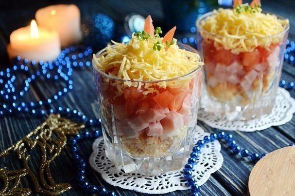 Новогодний салат за 5 минут