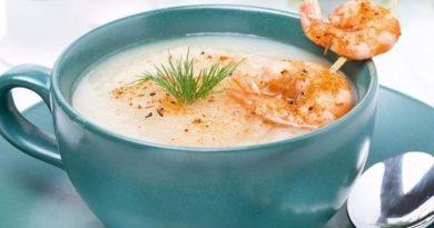 Kpем-суп с кpеветками