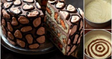 Вот это красота. Торт на удивление красив и легок в приготовлении. И действительно похож на леопарда