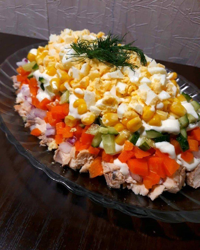 самые популярные салаты рецепты с фото гостей немного