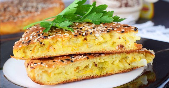 Приготовьте супер вкусный заливной пирог капустный