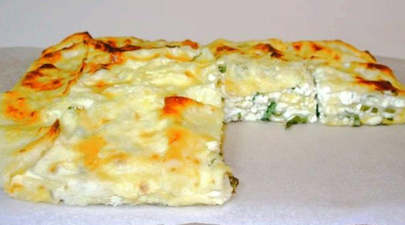 Сырный пирог из лаваша с зеленью