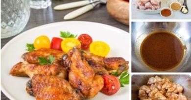 Эти пикантные запеченные крылышки - отличный вариант не только для семейного ужина, но и для веселых пивных посиделок с друзьями