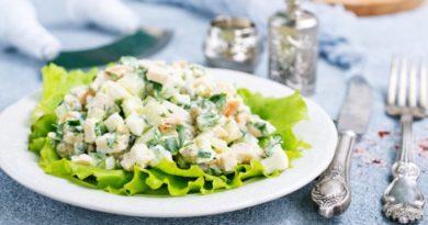 Салат оливье с куриной печенью – вкусная и оригинальная вариация привычного праздничного блюда