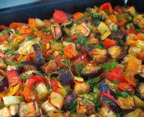 Фантастические запечённые овощи в чесночном маринаде