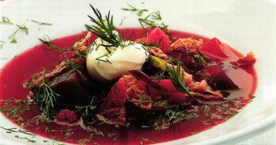 Кисло-сладкий борщ с капустой и томатами