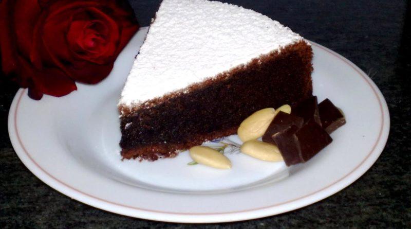"""Итальянский шоколадный торт """"Капрезе"""""""